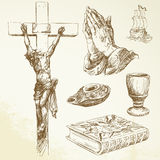 Christianity. Religion - hand drawn collection Stock Photos