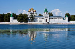 Christianity  cathedral in Russia, Kostroma city, Ipatievsky monastery. Cradle of the house of Romanovs Stock Photos