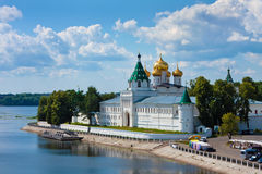 Christianity  cathedral in Russia, Kostroma city, Ipatievsky monastery Royalty Free Stock Image