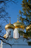 Christianity  cathedral in Russia, Kostroma city, Ipatievsky monastery Stock Photos