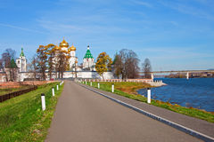 Christianity  cathedral in Russia, Kostroma city, Ipatievsky monastery Royalty Free Stock Images