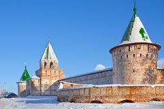 Christianity  cathedral in Russia, Kostroma city, Ipatievsky monastery Royalty Free Stock Photography