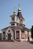 Christianity church. Against the blue sky. Russia Stock Photography