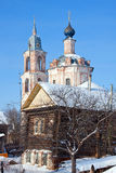 Christianity church in Russia, Kostroma area, Nerechta royalty free stock photography