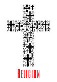 Christianity cross icon. Religion symbol Royalty Free Stock Photo