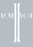 Christianity cross shape in word I love you and Bible verse Royalty Free Stock Image
