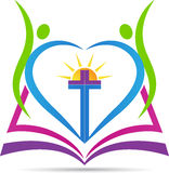 Christianity cross. A vector drawing represents christianity cross design stock illustration
