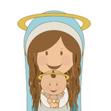 Christianity design. Over blue background, vector illustration Royalty Free Stock Image