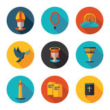 Christianity flat  icons Stock Images