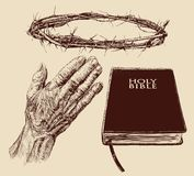 Christianity-hand drawn collection Stock Photo