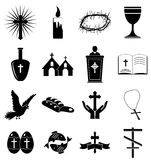 Christianity icons set Stock Photography
