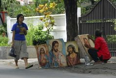 CHRISTIANITY IN INDONESIA Stock Images