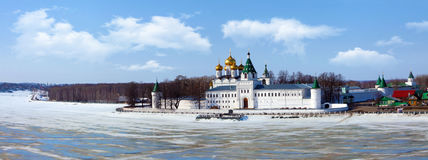 Christianity Ipatievsky monastery in Russia. Christianity church in Russia, Kostroma city, Ipatievsky monastery, Cradle of the house of Romanovs Royalty Free Stock Image
