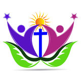 Christianity leaf people. Vector drawing isolated in white background royalty free illustration