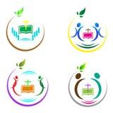 Christianity logos. Christianity logo design in white background royalty free illustration
