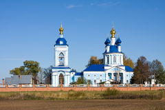 Christianity monastery in Dunilovo Stock Photo