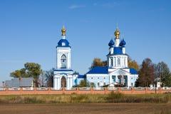 Christianity monastery in Dunilovo stock photo