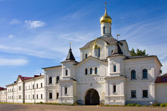 Christianity monastery in Rostov city. Christianity church in Russia, monastery of saint Sergey Radonegsky in Rostov city Royalty Free Stock Images