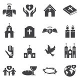 Christianity  religion icon set Royalty Free Stock Photos