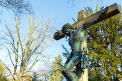 Christianity Religion Symbol Jesus Sculpture Stock Images