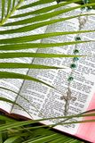 Christianity - Rosary And Bible Stock Photo