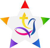 Christianity star. A vector drawing represents christianity star design Royalty Free Stock Image