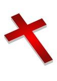 Christianity symbol. Red christianity symbol in white background eps Stock Photos