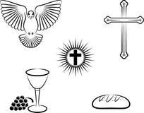 Christianity. Symbols of the Christianity - illustration vector illustration