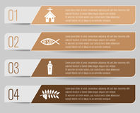 Christianity themed infographic. With four options Royalty Free Stock Photography