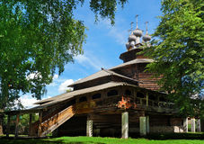 Christianity wood church in Russia stock photography