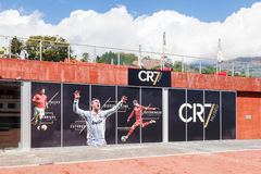 The Christiano Ronaldo Pestana CR Hotel and Museum. Is pictured on the Funchal waterfront on the Portuguese island of Madeira Stock Image