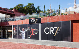The Christiano Ronaldo Pestana CR Hotel and Museum. Is pictured on the Funchal waterfront on the Portuguese island of Madeira Royalty Free Stock Photos