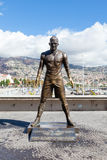 Christiano Ronaldo Statue. A statue of footballer Christiano Ronaldo is pictured on the Funchal waterfront on the Portuguese island of Madeira Stock Photography
