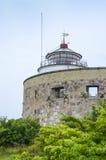 Christiansø lighthouse Ertholmene Denmark. Christiansø lighthouse in the old fortress tower at Ertholmene, generally called Christiansø, is a small Stock Images