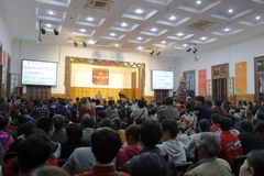 Christians celebrate Christmas Eve in xinjietang Church, adobe rgb. Christians celebrate Christmas Eve in xinjietang Church, amoy city, china. New Street Chapel Stock Photography