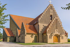 Christians Church in Fredericia. Built 1930 in a yellow brick construction, Fredericia, Denmark, August 23, 2017 Stock Photography