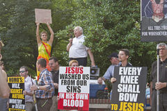 Christians Denounce Homosexuality Amid Protest Royalty Free Stock Photography