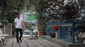 Christians  in Ho Chi MInh city stock video footage