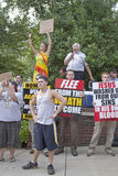 Christians and Liberals Clash Over Homosexuality at Bele Chere F Royalty Free Stock Photography