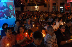 Christians pray. Christians were praying in a church in Solo, Central Java, Indonesia Royalty Free Stock Photography