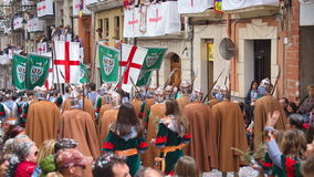 Christians vs Moors parade in Alcoy Stock Photos