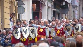 Christians vs Moors parade in Alcoy Stock Photo
