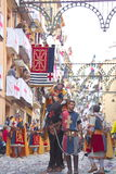 Christians vs Moors parade in Alcoy Royalty Free Stock Images