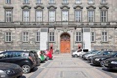 christiansborg丹麦家庭宫殿议会 免版税库存图片
