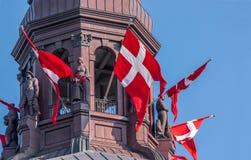 Christiansborg城堡塔  免版税库存照片