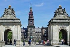 Christiansborg城堡,丹麦政府 库存图片