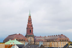 Christiansborg Castle in the central Copenhagen, Denmark Royalty Free Stock Photography