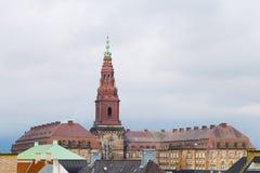Christiansborg Castle in the central Copenhagen, Denmark Royalty Free Stock Photography