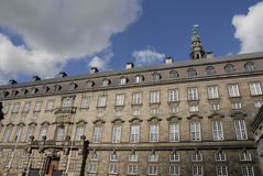 CHRISTIANSBORG CASTLE_DANISH议会 免版税图库摄影