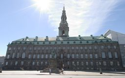 Christiansborg, Deense parlament Stock Foto